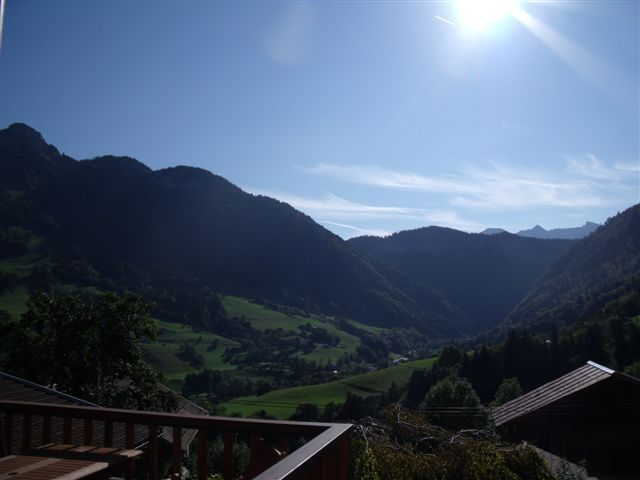 Vista dal balcone Affitto Chalet 72056 La Clusaz