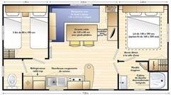 Pianta casa vacanze Affitto Casa mobile 17997 Saint Florent