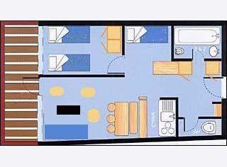 Pianta casa vacanze Affitto Appartamento 28016 Les Arcs