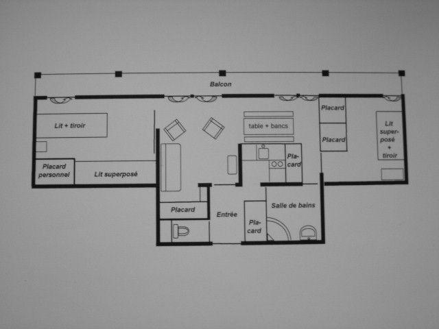 Pianta casa vacanze Affitto Appartamento 3094 Tignes