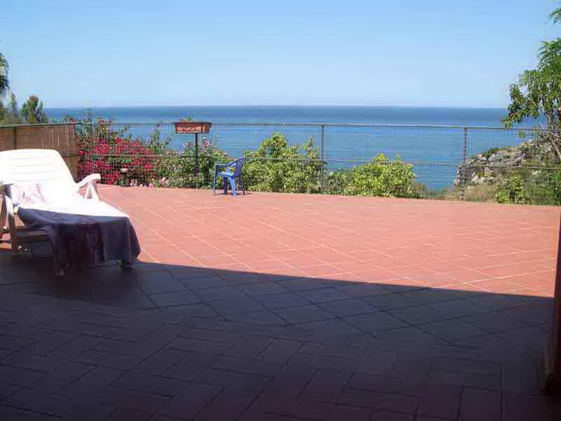 Vista dal terrazzo Affitto Villa  31625 Scopello