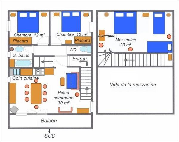 Pianta casa vacanze Affitto Chalet 3253 Val Cenis