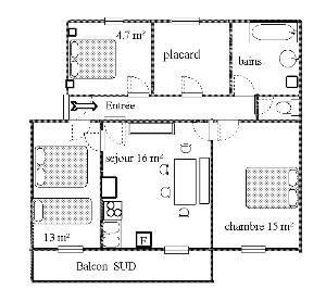 Pianta casa vacanze Affitto Appartamento 35822 Val Cenis