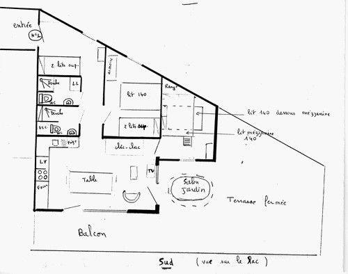 Pianta casa vacanze Affitto Appartamento 3830 Besse - Super Besse