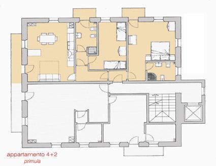Pianta casa vacanze Affitto Appartamento 39453 Selva di Cadore