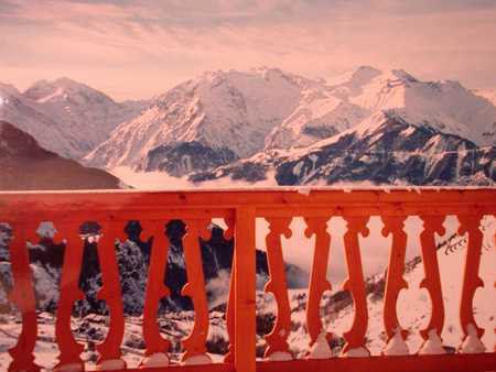 Vista dal balcone Affitto Appartamento 42 Alpe d'Huez