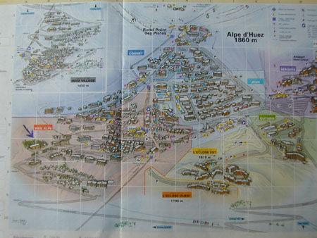 Pianta casa vacanze Affitto Appartamento 42 Alpe d'Huez