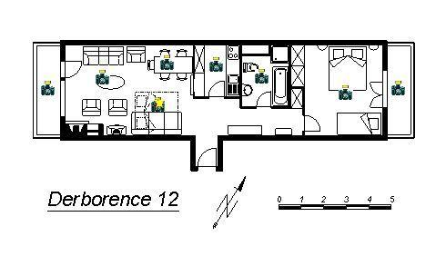 Pianta casa vacanze Affitto Appartamento 4725 Nendaz