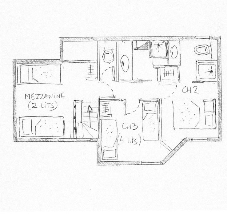 Pianta casa vacanze Affitto Appartamento 55934 Valmorel