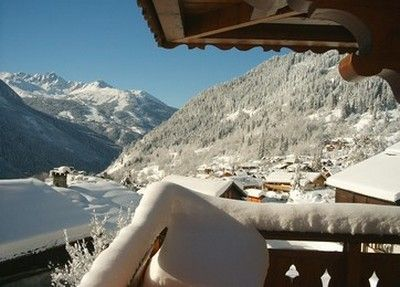 Vista dal balcone Affitto Chalet 577 Champagny en Vanoise