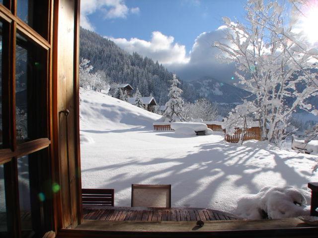 Vista dalla casa vacanze Affitto Chalet 600 Châtel