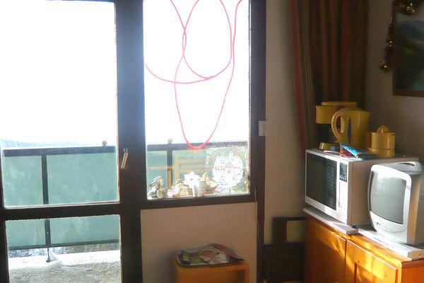 Vista dal balcone Affitto Monolocale 763 Chamrousse
