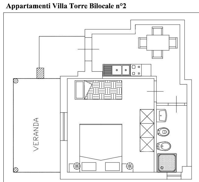 Pianta casa vacanze Affitto Appartamento 74466 Capo Vaticano