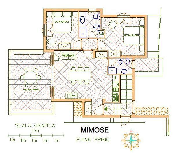 Pianta casa vacanze Affitto Appartamento 83848 Golfo Aranci