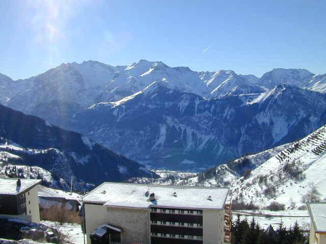 Vista dal terrazzo Affitto Appartamento 64 Alpe d'Huez