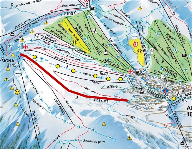 Mappa Affitto Appartamento 64 Alpe d'Huez