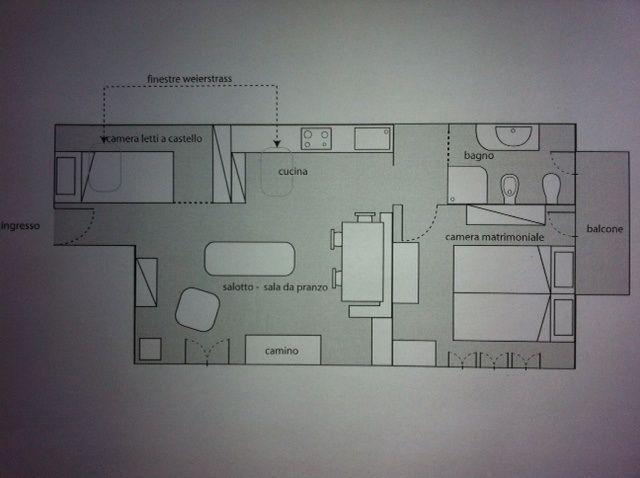 Pianta casa vacanze Affitto Appartamento 79781 Sauze d'Oulx