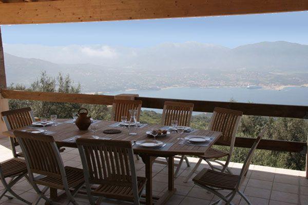 Vista dal terrazzo Affitto Villa  87574 Propriano