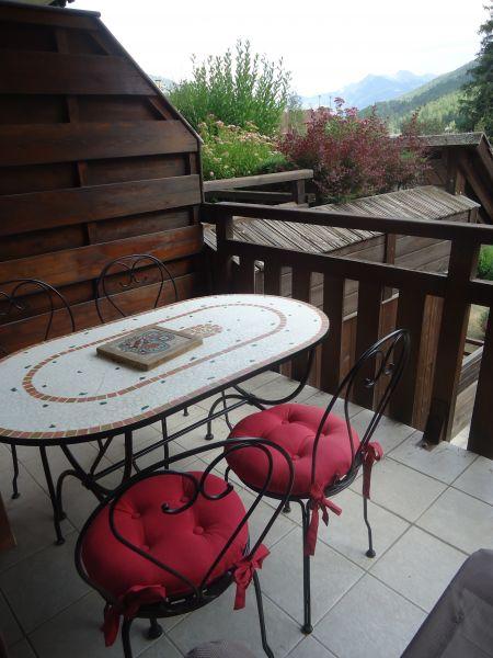 Vista dal terrazzo Affitto Appartamento 106688 Serre Chevalier