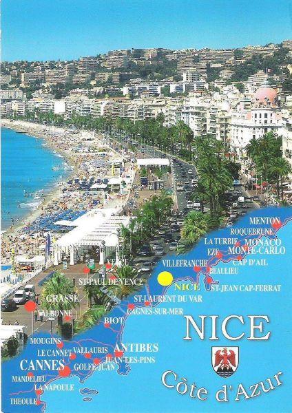 Mappa Affitto Appartamento 117475 Nizza