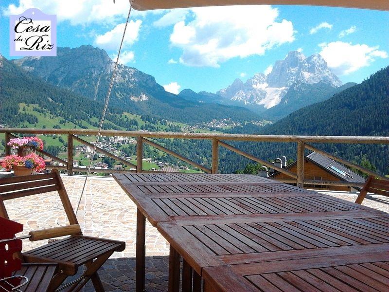 Vista dal terrazzo Affitto Appartamento 69277 Civetta