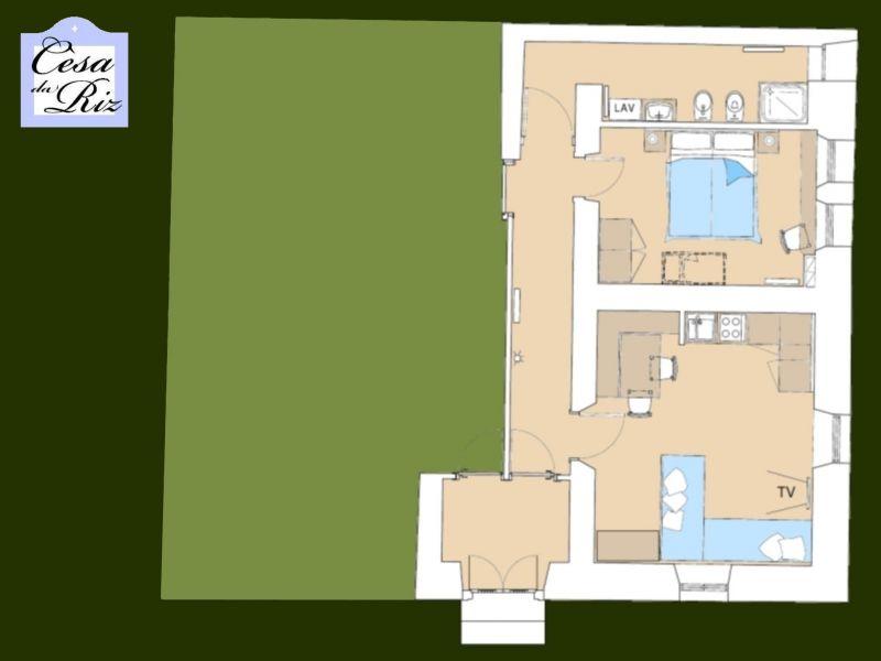 Pianta casa vacanze Affitto Appartamento 69277 Civetta