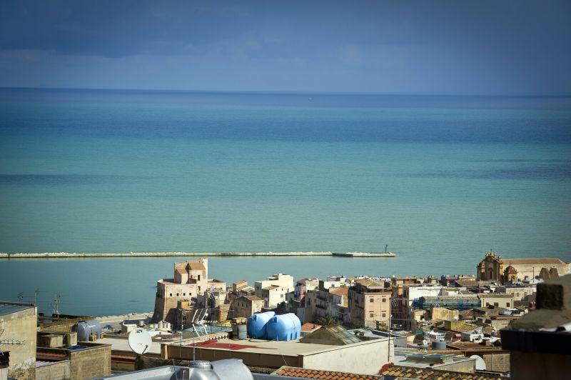 Vista dal terrazzo Affitto Appartamento 95562 Castellammare del Golfo
