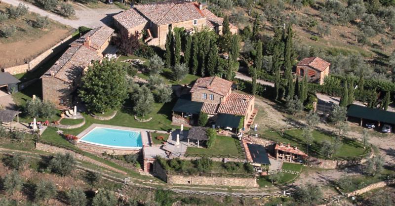 Vista dalla casa vacanze Affitto Agriturismo 65957 Siena