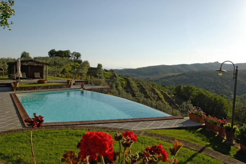Vista dal terrazzo Affitto Agriturismo 65957 Siena