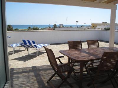 Vista dal terrazzo Affitto Appartamento 75278 Pescoluse