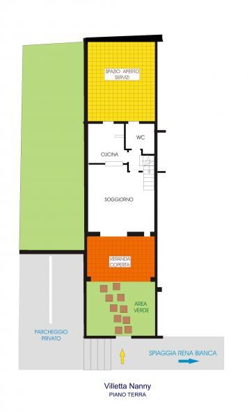 Pianta casa vacanze Affitto Appartamento 84500 Santa Teresa di Gallura