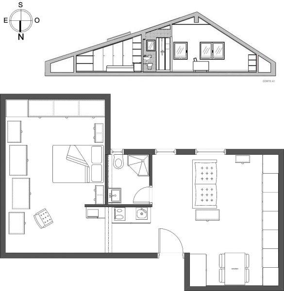 Pianta casa vacanze Affitto Appartamento 91900 Lisbona