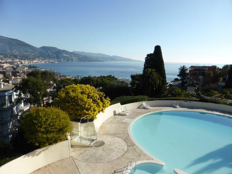 Vista dal terrazzo Affitto Monolocale 94016 Roquebrune Cap Martin