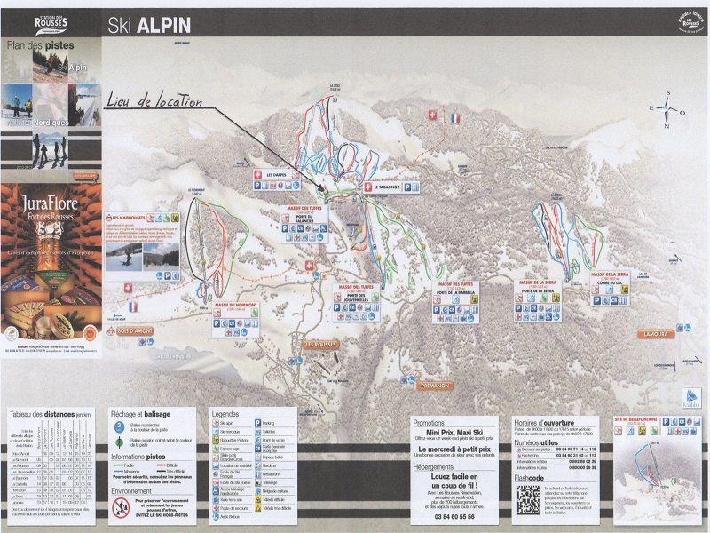 Mappa Affitto Appartamento 106678 Les Rousses