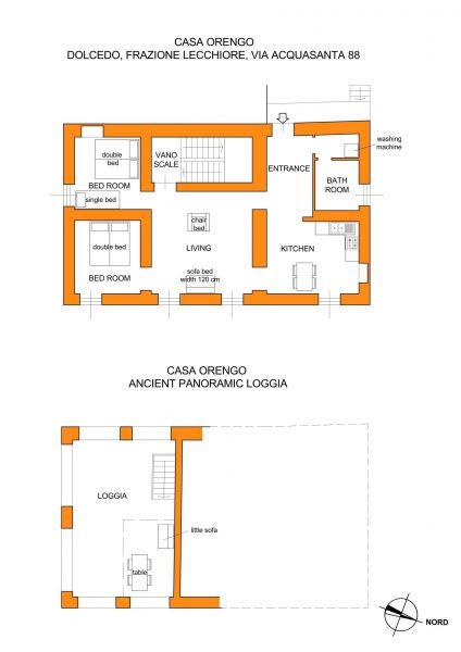 Pianta casa vacanze Affitto Agriturismo 80918 Dolcedo