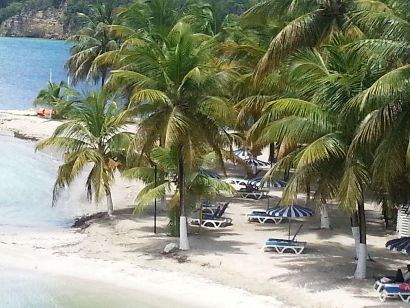 Vista dal terrazzo Affitto Appartamento 86727 Gosier (Guadalupa)
