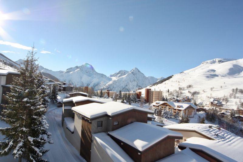 Vista dal terrazzo Affitto Appartamento 101201 Les 2 Alpes