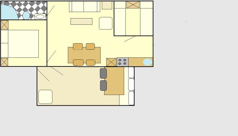 Pianta casa vacanze Affitto Bungalow 107493 Porlezza