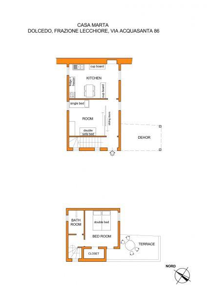 Pianta casa vacanze Affitto Agriturismo 80842 Dolcedo
