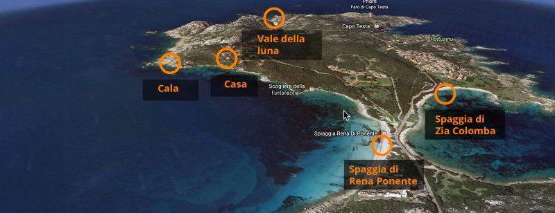 Mappa Affitto Villa  90063 Santa Teresa di Gallura