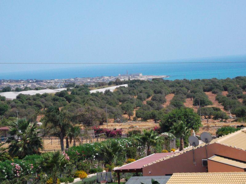 Vista dal terrazzo Affitto Villa  91710 Sampieri