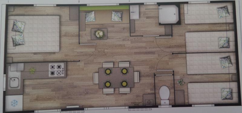 Pianta casa vacanze Affitto Casa mobile 101460 Patrimonio