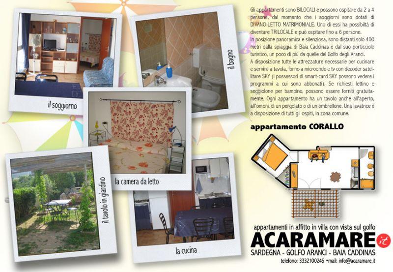 Pianta casa vacanze Affitto Appartamento 16537 Golfo Aranci