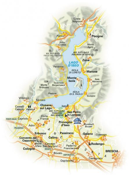 Mappa Affitto Appartamento 20051 Provaglio d'Iseo