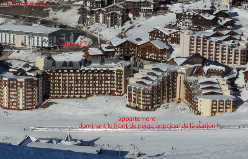 Vista esterna della casa vacanze Affitto Appartamento 20123 Val Thorens