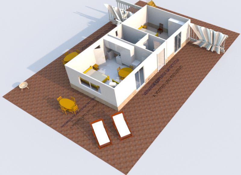Pianta casa vacanze Affitto Appartamento 21885 Marina di Camerota