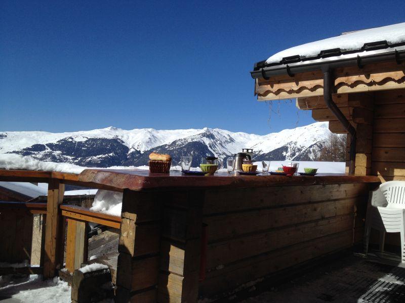Vista dal terrazzo Affitto Chalet 2248 La Plagne