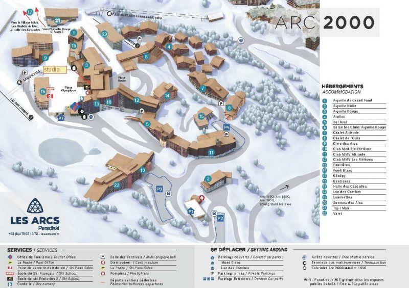 Mappa Affitto Monolocale 238 Les Arcs