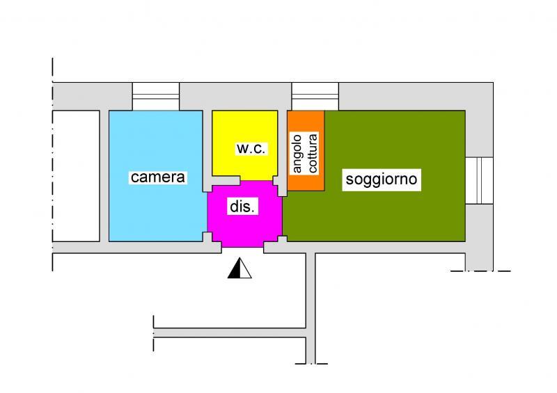 Pianta casa vacanze Affitto Appartamento 26342 Sanremo