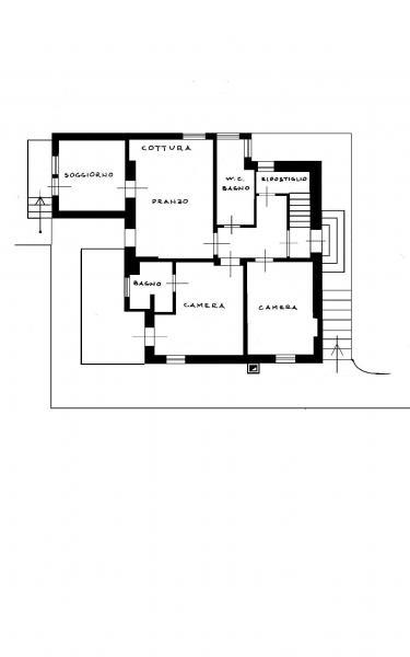 Pianta casa vacanze Affitto Appartamento 26458 Cortina d'Ampezzo